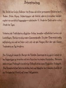 Die Erlasse des Grafen von Kronau